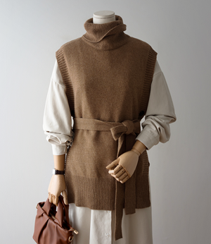 pre wool belt turtleneck vest[베스트BDT31] 3color_free size안나앤모드