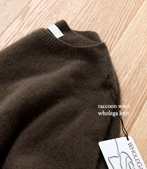 jay raccoon wool wholega knit[니트BDX68] 5color_free size안나앤모드