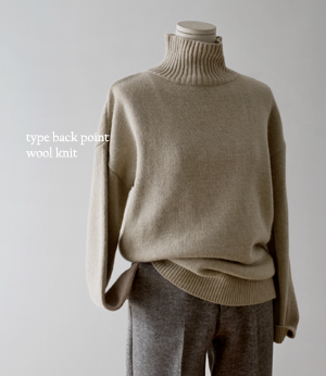 type back point wool knit[니트BD31] 3color_free size안나앤모드