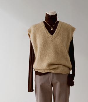 mont wool mohair v neck knit[니트BET84] 3color_free size안나앤모드