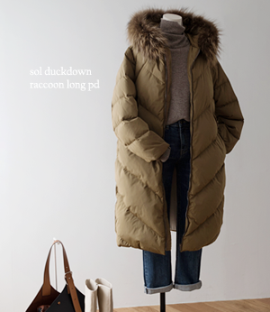 sol duckdown raccoon long pd[패딩BDM47] 4color_free size안나앤모드
