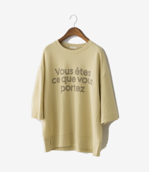 vous 9bu lettering t[티셔츠AUW77] 4color_free size안나앤모드