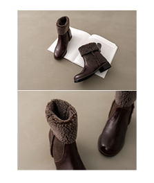 peach leather boots[슈즈ADJ35] 2color_5size안나앤모드