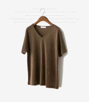 natural linen v neck t[티셔츠AW746] 9color_free size안나앤모드