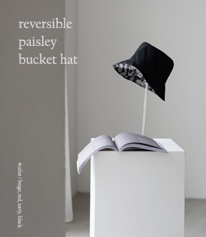 reversible paisley bucket hat[모자BGM40] 4color_free size안나앤모드