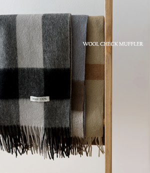 amber wool check muffler[머플러BCG37] 3color_free size안나앤모드