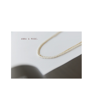 pearl n cubic 3 necklace[쥬얼리174] one color_free size안나앤모드
