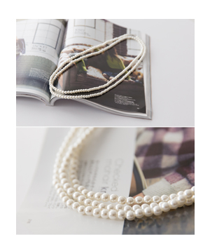 long pearl necklace[쥬얼리259] one color_free size안나앤모드