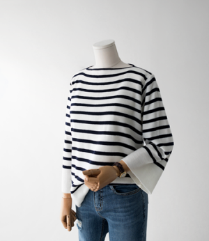 boatneck loose stripe knit[니트AN495] 2color_free size안나앤모드