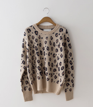 soft leopard gold knit[니트BCG72] 3color_free size안나앤모드