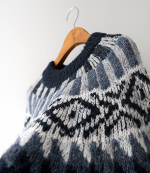 nordic pattern wool knit[니트BCZ46] 2color_free size안나앤모드