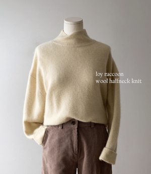 loy raccoon wool halfneck knit[니트BDP43] 4color_free size안나앤모드