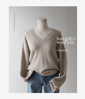 loni golji v wool knit[니트BD397] 4color_free size안나앤모드