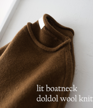 lit boatneck doldol wool knit[니트BFG78] 4color_free size안나앤모드