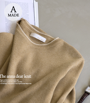 the anna dear knit[니트BFW11] 2color_free size안나앤모드