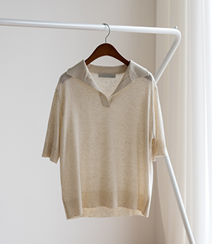 byhil linen collar knit[니트BLZ48] 3color_free size안나앤모드
