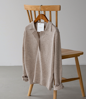 cashmere finewool collar knit[니트BND97] 3color_free size안나앤모드