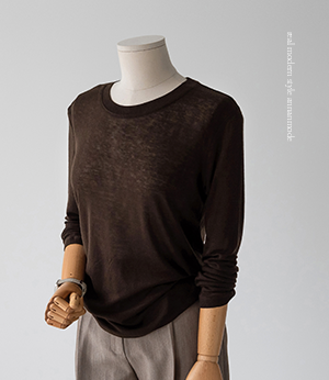 chemi soft wool basic t [니트BNE81] 7color_2size안나앤모드