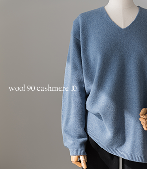 rona wool cashmere v knit[니트BPE25] 5color_free size안나앤모드