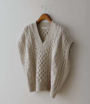teizy twist knit vest[베스트BCY75] 2color_free size안나앤모드