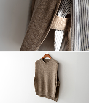 romit layered wool knit vest[베스트BNV10] 4color_free size안나앤모드