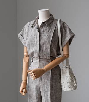 Mullang. linen chambray jumpsuit[오버롤BLK8] one color_2size안나앤모드