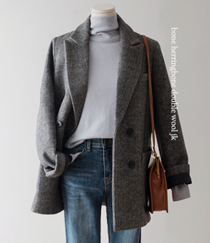 bone herringbone double wool jk[자켓BDK54] 2color_free size안나앤모드