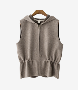 cookie hood string vest[베스트ASK63] 2color_free size안나앤모드