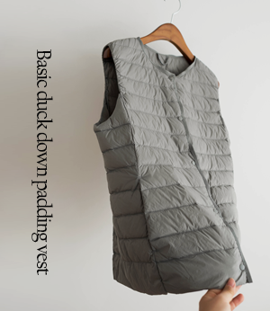 basic duck down padding vest[베스트BBF1] 4color_3size안나앤모드