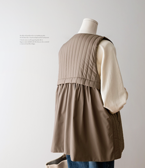 celli quilting flare vest[베스트BBS92] 3color_free size안나앤모드