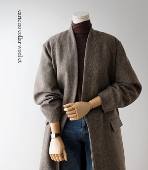 carie no collar wool ct[코트BDV47] 2color_free size안나앤모드