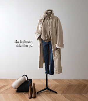 like highneck safari fur pd[코트BD513] 2color_free size안나앤모드