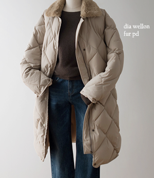 terry dia wellon fur pd[패딩BDE80] 2color_free size안나앤모드