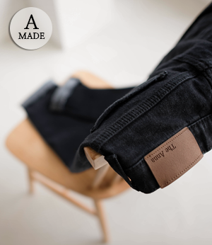 the anna black gimo baggy jean[데님BBR4] one color_3size안나앤모드
