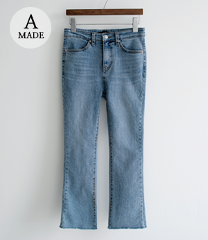 the anna semi bootscut light jean[데님BJE31] one color_3size안나앤모드