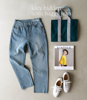 kley hidden semi baggy jean[데님BJQ92] one color_4size안나앤모드