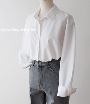 kozy washing cotton shirt[셔츠BFQ7] 5color_free size안나앤모드