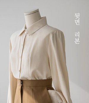 if modal back ribbon bl[셔츠BGL61] 3color_free size안나앤모드