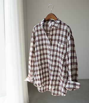 loca check washing shirt[셔츠BJY47] 3color_free size안나앤모드