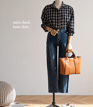 narie check basic shirt[셔츠BPH33] 3color_free size안나앤모드