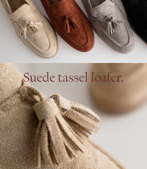 ron suede tassel loafer[슈즈BBF93] 4color_5size안나앤모드