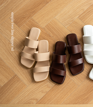 simple two line slipper sd[슈즈BJS10] 4color_6size안나앤모드