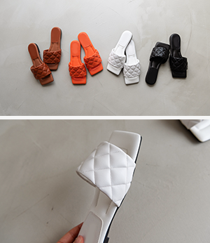 brina quilting slide sd[슈즈BJS97] 4color_5size안나앤모드