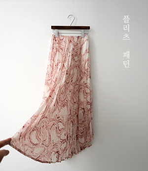 marbling pleats band sk[스커트BJW46] 2color_free size안나앤모드