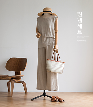 conor linen sleeveless + pt set[셔츠BLE24] 3color_free size안나앤모드